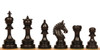 "Chetak Staunton Chess Set Ebony Pieces 4.25"" King"