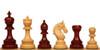 "Chetak Staunton Chess Set Padauk and Boxwood Pieces 4.25"" King"