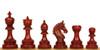 "Chetak Staunton Chess Set Padauk Pieces 4.25"" King"