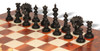 Strategos Staunton Chess Set in Ebony & Boxwood with Elm Burl & Erable Chess Board