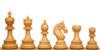 "Chetak Staunton Chess Set Ebony & Boxwood Pieces with Black & Ash Burl Chess Board - 4.25"" King"