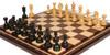 "Chetak Staunton Chess Set in Ebony & Boxwood with Walnut & Maple Mission Craft Chess Board - 4.25"" King"