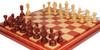 Chetak Staunton Chess Set in Padauk & Boxwood with Padauk & Maple Mission Craft Chess Board