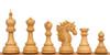 Bucephalus Staunton Chess Set in Ebony & Boxwood with Walnut & Maple Mission Craft Chess Board