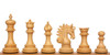 Marengo Staunton Chess Set in Ebony & Boxwood with Walnut & Maple Mission Craft Chess Board