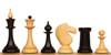 Soviet Era Latvian Antique Reproduction Chess Set Ebonized & Boxwood Pieces