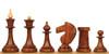 Soviet Era Latvian Antique Reproduction Chess Set Golden Rosewood & Boxwood