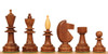 Hungarian Antique Reproduction Chess Set Golden Rosewood & Boxwood Pieces