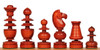 French Regency Antique Reproduction Chess Set Padauk & Boxwood Pieces