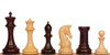 """Imperial Staunton Chess Set in Red Sandalwood & Boxwood - 6"""" King"""