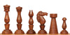 Grand Cigar Divan Antique Reproduction Chess Set Golden Rosewood & Boxwood with Classic Walnut Chess Board