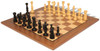 Grand Cigar Divan Antique Reproduction Chess Set Ebonized & Boxwood  with Classic Walnut Chess Board