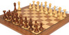 English Upright Antique Reproduction Chess Set Ebonized & Boxwood with Classic Walnut Chess Board