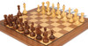 Russian 1940 Antique Repro Chess Set Golden Rosewood & Boxwood with Walnut Classic Chess Board