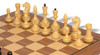 Russian 1940 Antique Reproduction Chess Set Ebonized & Boxwood with Classic Walnut Chess Board