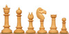 Northern Upright Antique Reproduction Chess Set Ebony & Boxwood Pieces
