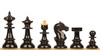 Vienna Coffee House Antique Reproduction Chess Set Lacquered Ebonized & Boxwood Pieces