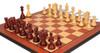 Bucephalus Staunton Chess Set in Padauk & Boxwood with Molded Edge Padauk Chess Board