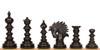 Strategos Staunton Chess Set Ebony & Boxwood Pieces with Walnut Mission Craft Chess Board