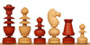 French Regency Antique Reproduction Chess Set Padauk & Boxwood Pieces with Padauk & Maple Molded Chess Board