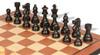 "French Lardy Staunton Chess Set Ebonized & Boxwood Pieces with Mahogany Molded Edge Chess Board - 2.75"" King"
