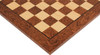 "Brown Ash Burl & Maple High Gloss Deluxe Chess Board - 2"" Squares"