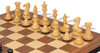 """New Exclusive Staunton Chess Set Ebony & Boxwood Pieces with Walnut Molded Chess Board - 4"""" King"""