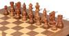 "French Lardy Staunton Chess Set Acacia & Boxwood Pieces with Molded Walnut Chess Board - 2.75"" King"