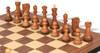 "Yugoslavia Staunton Chess Set Acacia & Boxwood Pieces with Walnut Molded Chess Board - 3.875"" King"