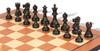 "Deluxe Old Club Staunton Chess Set Ebonized & Boxwood Pieces with Mahogany Molded Edge Chess Board - 3.75"" King"