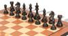 """Fierce Knight Staunton Chess Set Ebony & Boxwood Pieces with Mahogany Molded Edge Chess Board - 3"""" King"""