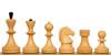 Russian Soviet Era Antique Reproduction Chess Set Ebonized Chess Pieces