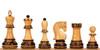 "Yugoslavia Staunton Decorative Chess Set with Burnt Boxwood Pieces - 3.875"" King"
