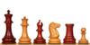 "1849 Heirloom Staunton Chess Set Padauk & Boxwood Pieces - 4.4"" King"