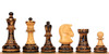 "The Dubrovnik Championship Chess Set with Burnt Boxwood Pieces - 3.875"" King"