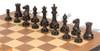 1849 Heirloom Staunton Chess Set Distressed Ebony & Boxwood with Walnut Molded  Chess Board