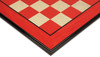 "Red & Erable Molded Edge High Gloss Chess Board - 2.75"" Squares"
