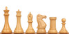 "New Exclusive Staunton Chess Set with Red Sandalwood & Boxwood Pieces - 5"" King"