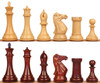 """New Exclusive Staunton Chess Set with Red Sandalwood & Boxwood Pieces - 5"""" King"""