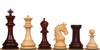 "Cambridge Staunton Chess Set in Red Sandalwood & Boxwood - 4.4"" King"