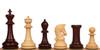 "Sultan Staunton Chess Set in Red Sandalwood & Boxwood - 4.5"" King"