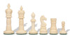 Crowned Domed Decorative Bone Chess Pieces - Black & Natural