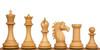 "Copenhagen Staunton Chess Set with Red Sandalwood & Boxwood Pieces - 4.4"" King"