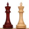 "Copenhagen Staunton Chess Set with Padauk & Boxwood Pieces - 4.5"" King"