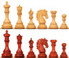 "Palomo Staunton Chess Set with Padauk & Boxwood Pieces - 4.4"" King"