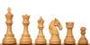 "Colombian Knight Staunton Chess Set with Padauk & Boxwood Pieces - 4.6"" King"