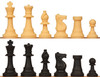 """Silicone Chess Set Black & Natural Pieces 3.5"""" King"""
