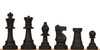 """Silicone Chess Set Black & Red Pieces 3.5"""" King"""