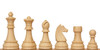 """German Knight Plastic Chess Set Brown & Natural Wood Grain Pieces - 3.9"""" King"""
