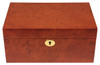 Elm Burl Classic Chess Box With Green Baize Lining - Large